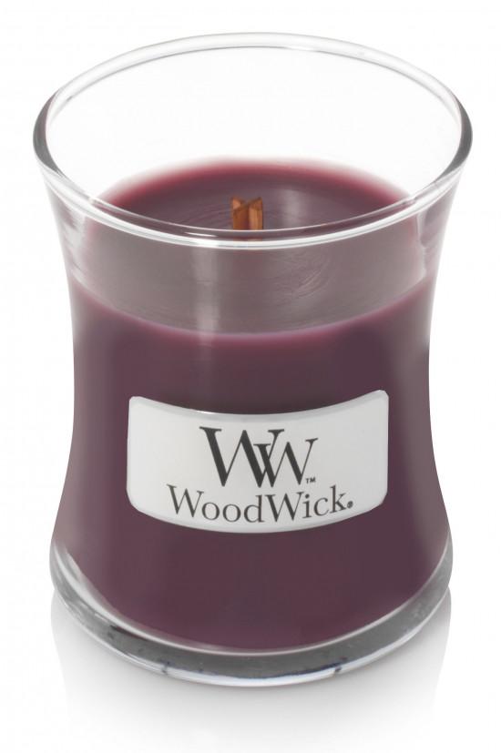 Aromatická svíčka váza, WoodWick Dark Poppy, hoření až 30 hod-693