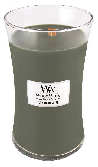 Aromatická svíčka váza, WoodWick Evening Bonfire, hoření až 120 hod-156
