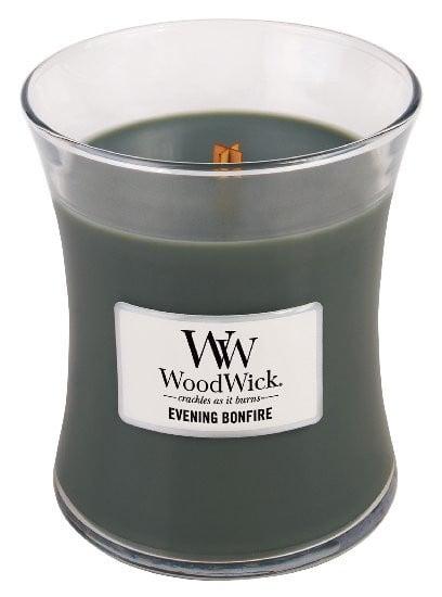 Aromatická svíčka váza, WoodWick Evening Bonfire, hoření až 65 hod-550