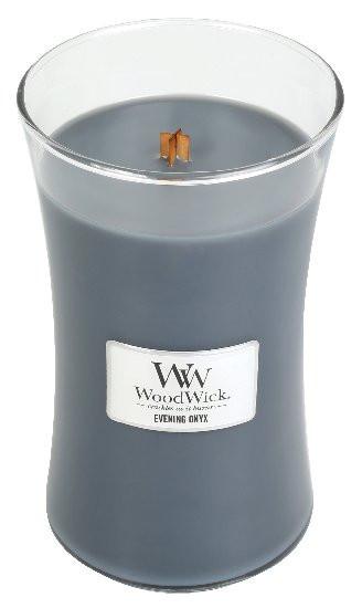 Aromatická svíčka váza, WoodWick Evening Onyx, hoření až 120 hod-1188
