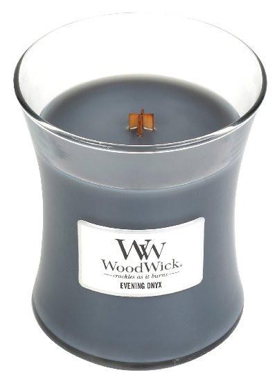 Aromatická svíčka váza, WoodWick Evening Onyx, hoření až 65 hod-977