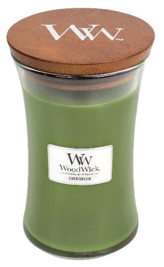 Aromatická svíčka váza, WoodWick Evergreen, hoření až 120 hod-525