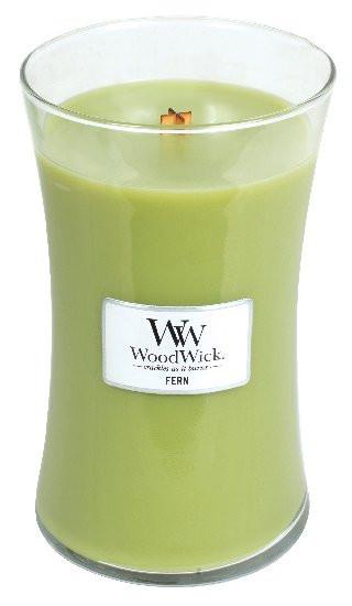 Aromatická svíčka váza, WoodWick Fern, hoření až 120 hod-806