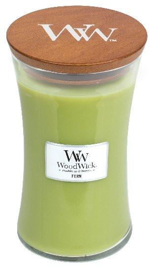 Aromatická svíčka váza, WoodWick Fern, hoření až 120 hod-947