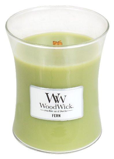 Aromatická svíčka váza, WoodWick Fern, hoření až 65 hod-689