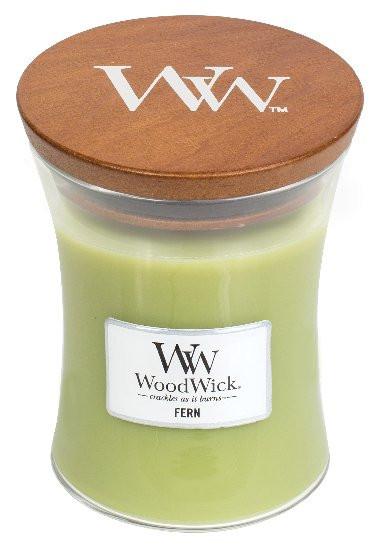 Aromatická svíčka váza, WoodWick Fern, hoření až 65 hod-839