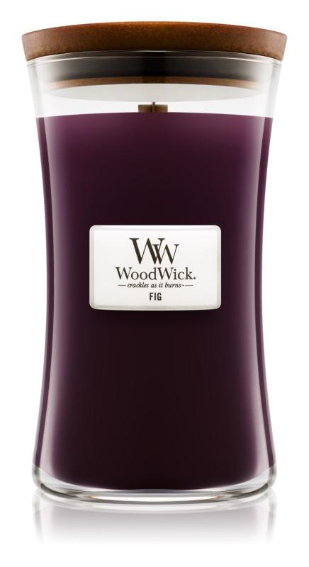 Aromatická svíčka váza, WoodWick Fig, hoření až 120 hod