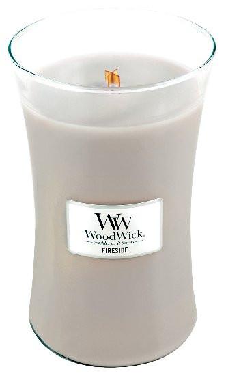 Aromatická svíčka váza, WoodWick Fireside, hoření až 120 hod