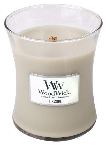 Aromatická svíčka váza, WoodWick Fireside, hoření až 65 hod-1156