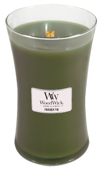 Aromatická svíčka váza, WoodWick Frasier Fir, hoření až 120 hod