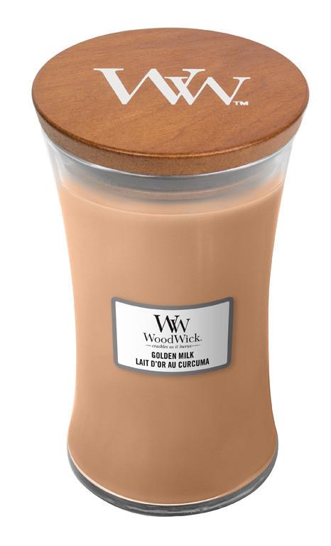 Aromatická svíčka váza, WoodWick Golden Milk, hoření až 120 hod-1007