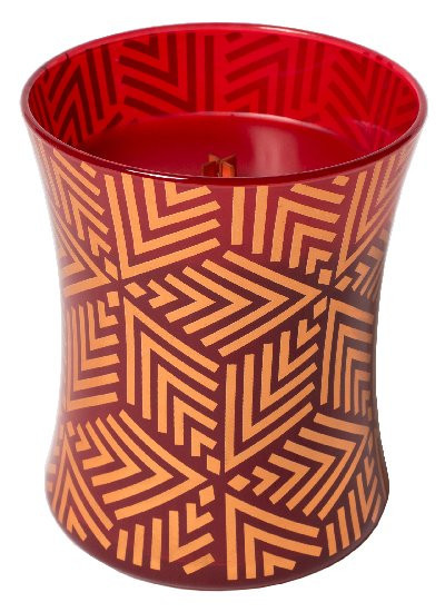 Aromatická svíčka váza, WoodWick Holiday Crimson Berries, hoření až 65 hod-1176