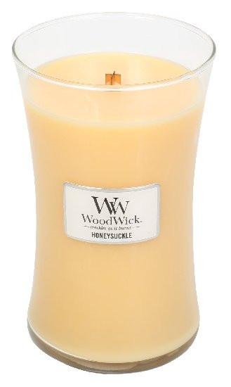 Aromatická svíčka váza, WoodWick Honeysuckle, hoření až 120 hod-530