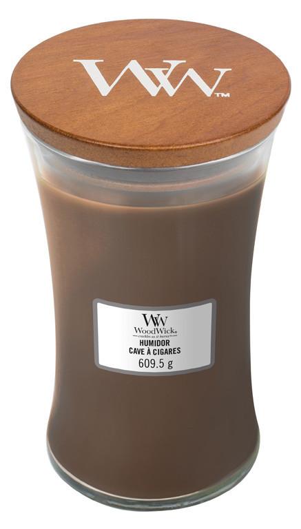 Aromatická svíčka váza, WoodWick Humidor, hoření až 120 hod-1024