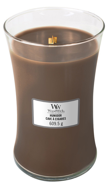 Aromatická svíčka váza, WoodWick Humidor, hoření až 120 hod-1062