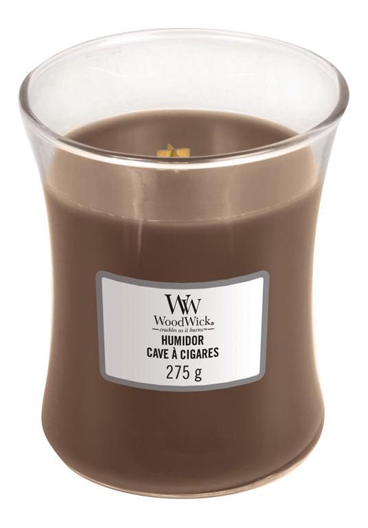 Aromatická svíčka váza, WoodWick Humidor, hoření až 65 hod