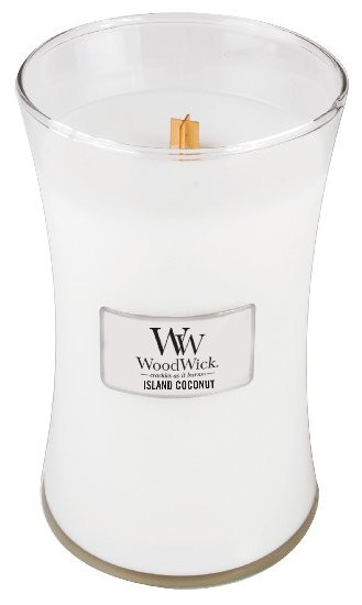 Aromatická svíčka váza, WoodWick Island Coconut, hoření až 120 hod-397
