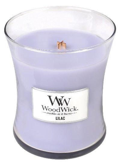 Aromatická svíčka váza, WoodWick Lilac, hoření až 65 hod-1124