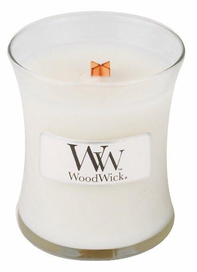 Aromatická svíčka váza, WoodWick Linen, hoření až 30 hod-477