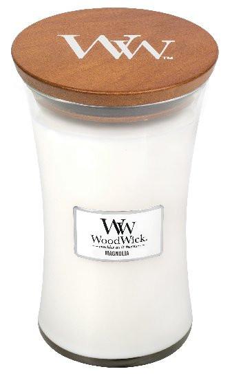 Aromatická svíčka váza, WoodWick Magnolia, hoření až 120 hod-1146