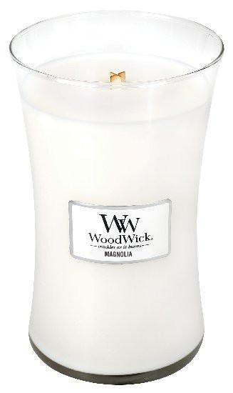 Aromatická svíčka váza, WoodWick Magnolia, hoření až 120 hod-817