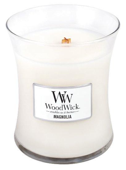 Aromatická svíčka váza, WoodWick Magnolia, hoření až 65 hod-579