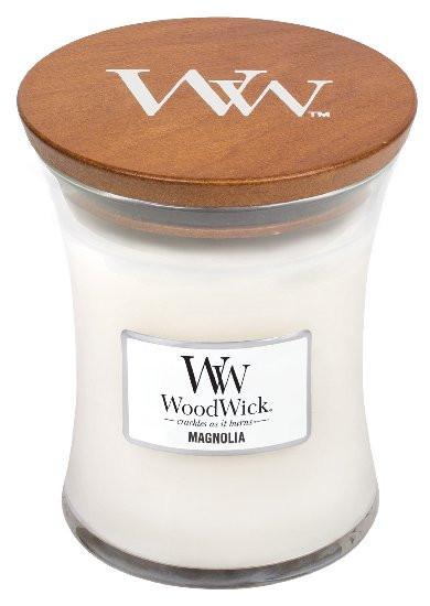 Aromatická svíčka váza, WoodWick Magnolia, hoření až 65 hod-80