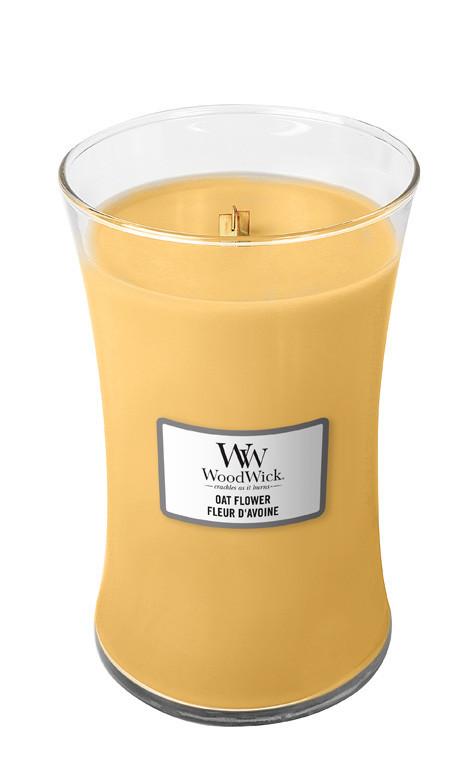 Aromatická svíčka váza, WoodWick Oat Flower, hoření až 120 hod-4729