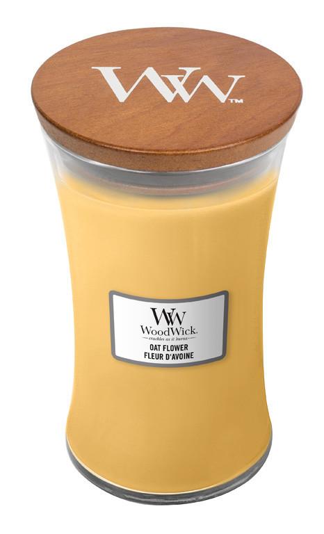 Aromatická svíčka váza, WoodWick Oat Flower, hoření až 120 hod-4730