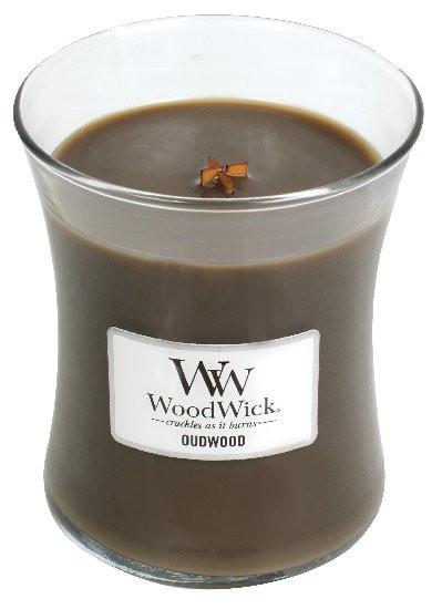Aromatická svíčka váza, WoodWick Oudwood, hoření až 65 hod-1263