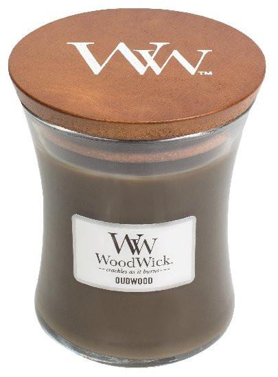 Aromatická svíčka váza, WoodWick Oudwood, hoření až 65 hod-642