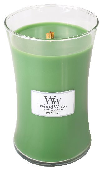 Aromatická svíčka váza, WoodWick Palm Leaf, hoření až 120 hod-834
