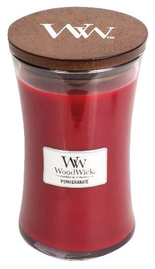 Aromatická svíčka váza, WoodWick Pomegranate, hoření až 120 hod-499