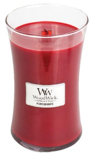 Aromatická svíčka váza, WoodWick Pomegranate, hoření až 120 hod-521