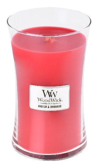 Aromatická svíčka váza, WoodWick Radish and Rhubarb, hoření až 120 hod-122