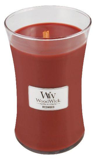 Aromatická svíčka váza, WoodWick Redwood, hoření až 120 hod-1112