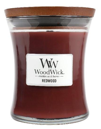 Aromatická svíčka váza, WoodWick Redwood, hoření až 65 hod-1010