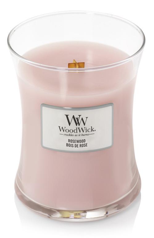 Aromatická svíčka váza, WoodWick Rosewood, hoření až 65 hod-504