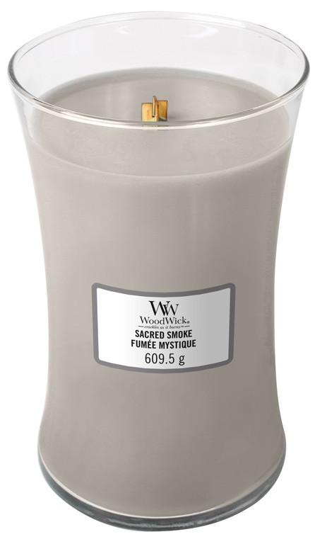 Aromatická svíčka váza, WoodWick Sacred Smoke, hoření až 120 hod-59