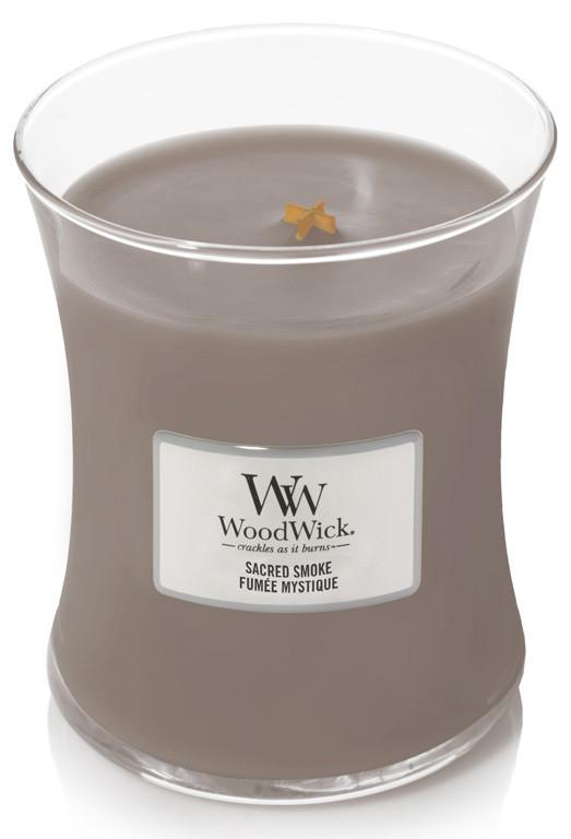 Aromatická svíčka váza, WoodWick Sacred Smoke, hoření až 65 hod-994