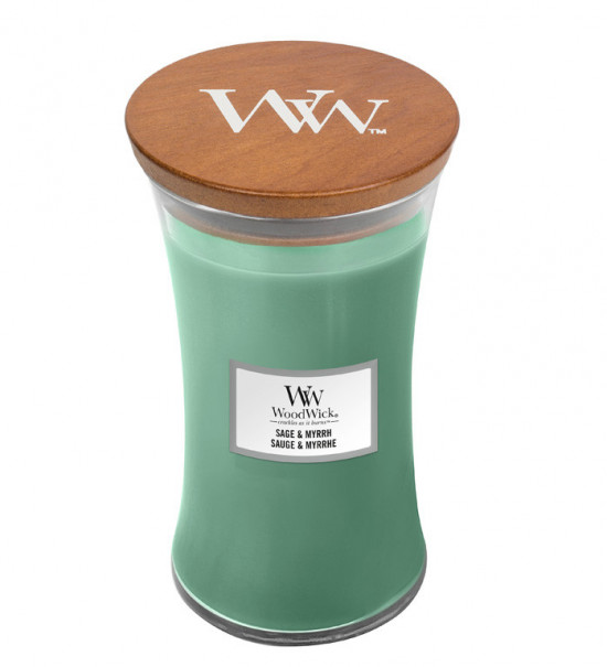 Aromatická svíčka váza, WoodWick Sage & Myrth, hoření až 120 hod-4762