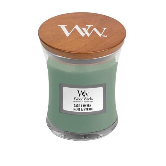Aromatická svíčka váza, WoodWick Sage & Myrth, hoření až 30 hod-4763