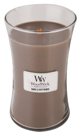 Aromatická svíčka váza, WoodWick Sand & Driftwood, hoření až 120 hod-187