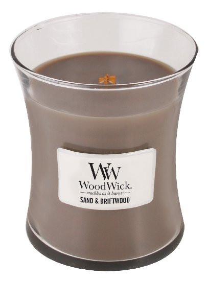 Aromatická svíčka váza, WoodWick Sand & Driftwood, hoření až 65 hod-223