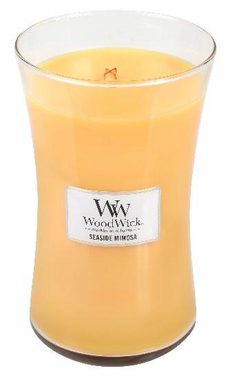 Aromatická svíčka váza, WoodWick Seaside Mimosa, hoření až 120 hod-779