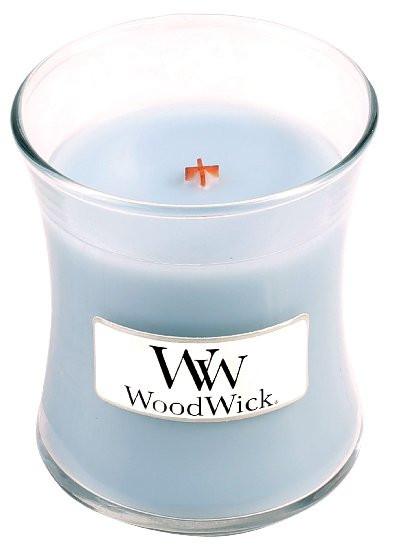 Aromatická svíčka váza, WoodWick Soft Chambray, hoření až 30 hod