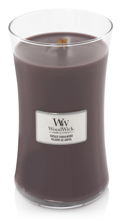 Aromatická svíčka váza, WoodWick Sueded Sandalwood, hoření až 120 hod-291