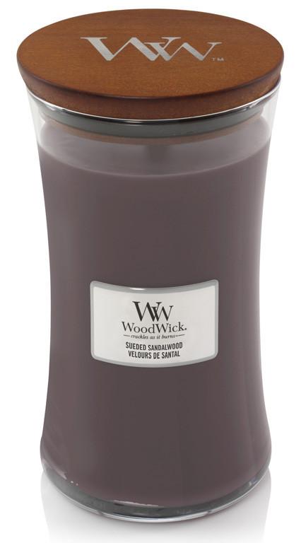 Aromatická svíčka váza, WoodWick Sueded Sandalwood, hoření až 120 hod-479