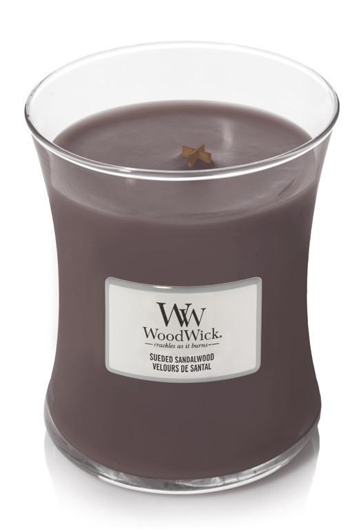 Aromatická svíčka váza, WoodWick Sueded Sandalwood, hoření až 65 hod-960