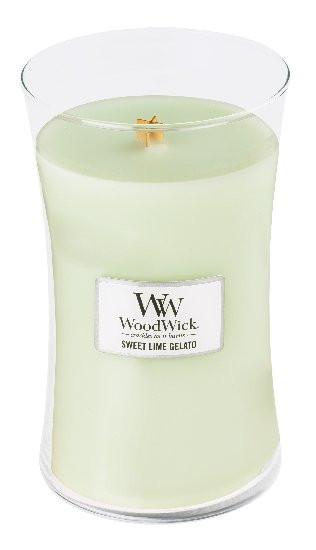 Aromatická svíčka váza, WoodWick Sweet Lime Gelato, hoření až 120 hod-4715